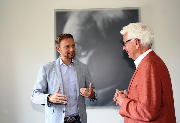 Christian Lindner und Siegmar Rothstein