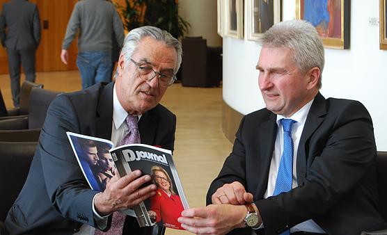 Paul Breuer und Andreas Pinkwart