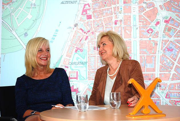 Helma Wassenhoven und Evelin Theisen