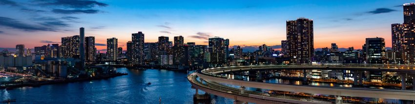 Tokio und Rainbow-Bridge